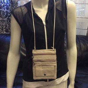 Cute genuine leather mini crossbody/neck purse